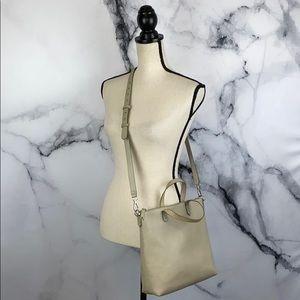 MADEWELL transport crossbody gray leather bag